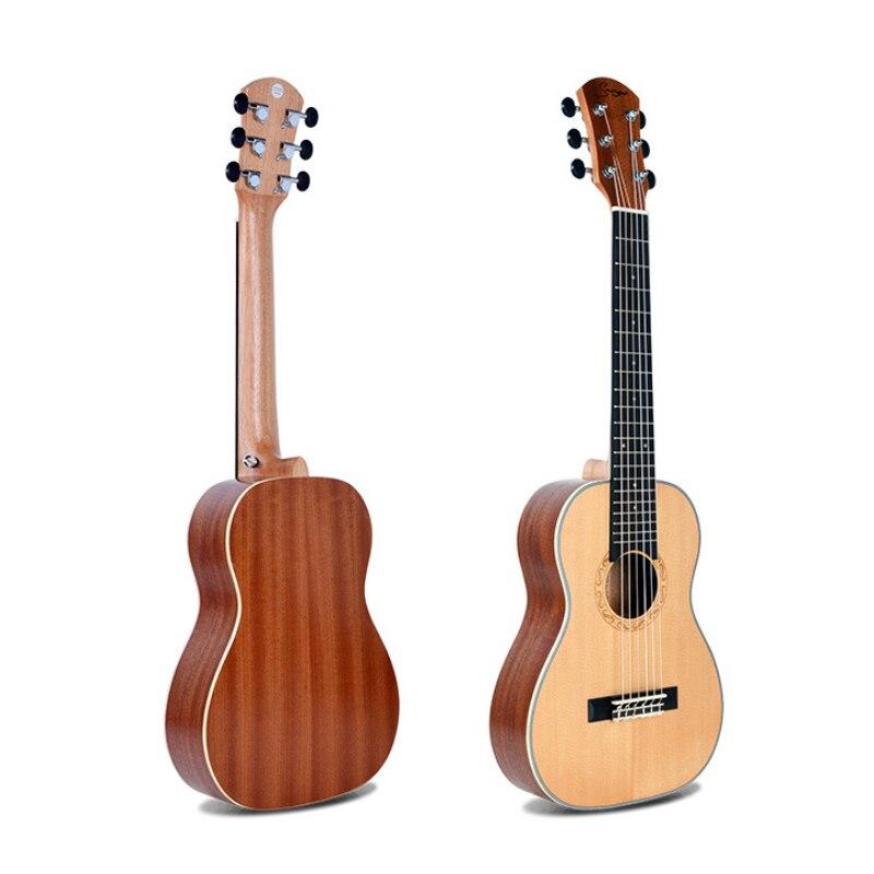 Guitare en épicéa ukulélé 30 pouces Hawaii Qin 6 cordes