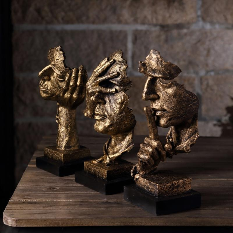 Gift Resin Abstract Craft Figurines Decorative Sculptures