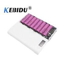 Kebidu DIY רב צבע 8*18650 ליתיום יון סוללה מקרה כוח בנק פגז נייד LCD תצוגה חיצוני תיבת ללא סוללה