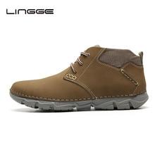 LINGGE/Новые дизайнерские весенние мужские ботинки; модная мужская повседневная обувь на шнуровке; новые мужские Ботильоны; размер 45# M5327-10