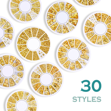 Silver Gold Color Nail Art Alloy Decoration Mixes Design Moon Star Beads 3D 4 Styles tweezers