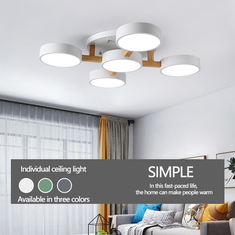 Nordic Simple Creative Living Room Ceiling Lamp Modern Remote Control Bedroom Ceiling Lights Warm Romantic Led Light Fixtures Ceiling Lights & Fans Ceiling Lights