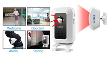 M7 Welcome Chime Doorbell Wireless Infrared PIR Motion detector Sensor Doorbell Welcome Alarm Entry Doorbell
