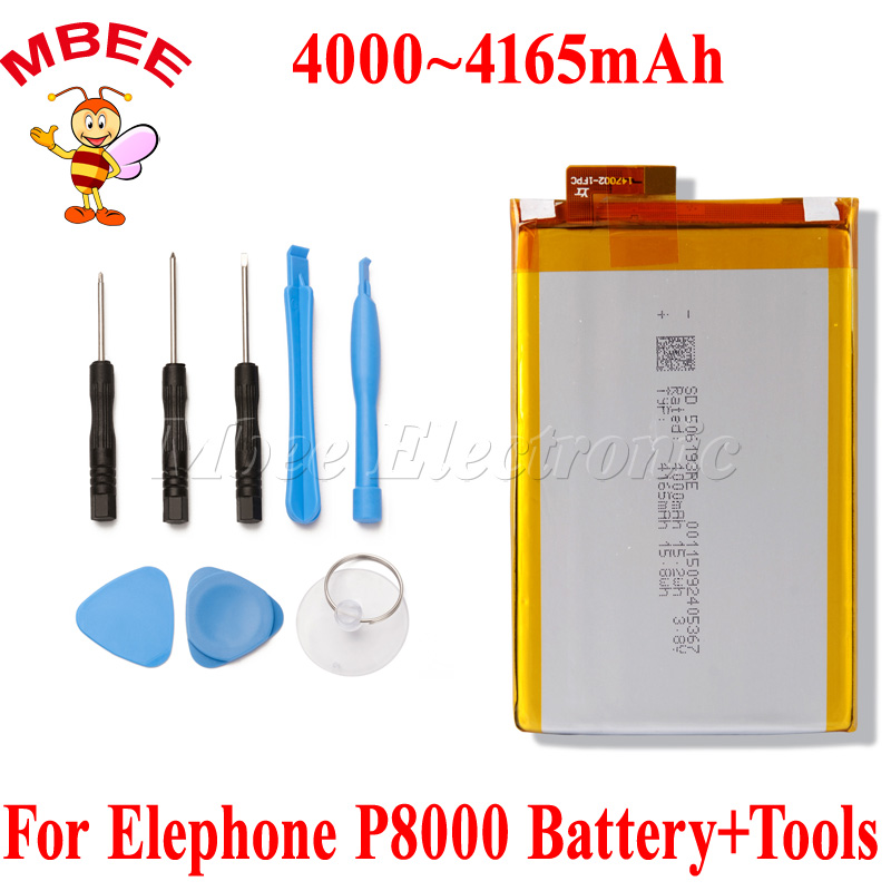 P8000 4000~4165mah Cell Phone Battery For Elephone P8000 Battery Batterie Bateria With Free Tools Gift Cellphones & Telecommunications