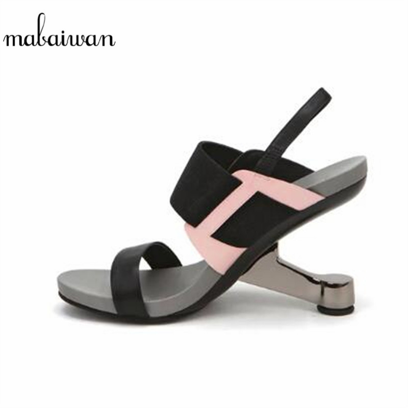 где купить Mabaiwan Women Ladies Strange High Heels Sexy Summer Sandals Prom Dress Shoes Woman Platform Sandal Women Pumps Sandalias Mujer по лучшей цене