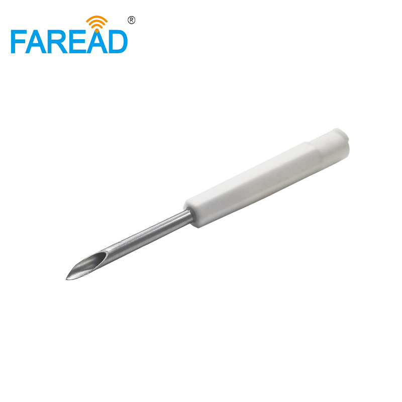 X100pcs RFID Animal Pet Syringe Needle ISO11784/785 FDX-B Animal Microchip Applicator With 2.12*12mmimplanted Chip Marking Fish