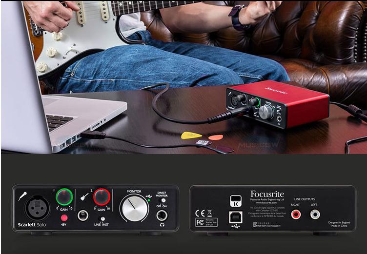 Original Focusrite Scarlett Solo Studio (2nd Gen) USB Sound