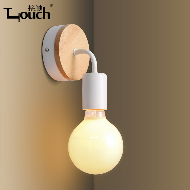Lights & Lighting Strict Modern Minimalist Living Room Bedroom Bedside Entrance Hall Home Aisle Wooden Single Head Restroom Wall Careful Calculation And Strict Budgeting Wall Lamps