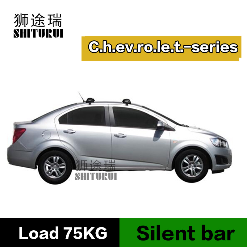 все цены на SHITURUI For Chevrolet Malibu lova T250 Epica Aveo Sail Spark LS ultra quiet truck roof bar car special aluminum alloy belt lock онлайн
