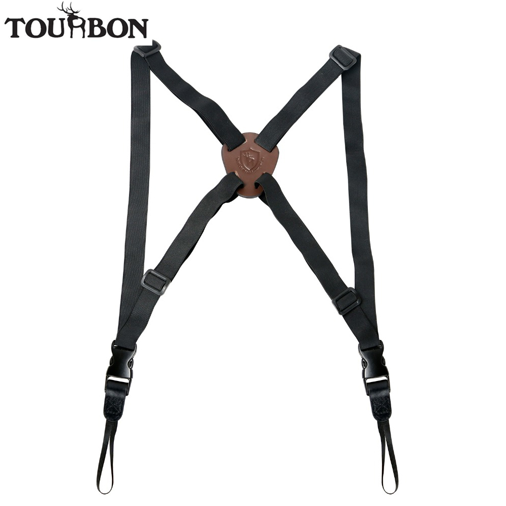 Tourbon Hunting Binocular Strap Rangefinders Camera Carrier Elastic Durable Nylon Harness Telescope Length Adjustable