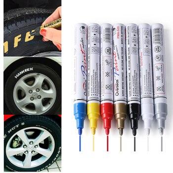 Car Styling Colorful Waterproof Pen Car Tyre Tires Tread CD Metal Permanent Paint Markers Graffiti Oily Marker Pen