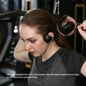 Image 5 - New Bee Headset Bluetooth Wireless Sport Earphone Headphones Snail Design HiFi Earbuds with Mic Pedometer App For Phone
