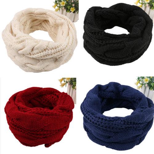 Ladies Women Winter Knitted Crochet Long Snood Tube Scarf Shawl Neck Warmer Gift