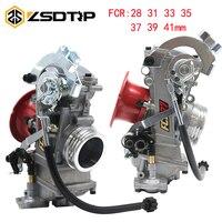 ZSDTRP FCR28 31 33 35 37 39 41mm Carburetor For KTM KLX450 YZ450F FCR39 Flatslide Kehin FCR Carburetor CRF450/650 Husqvarna 450