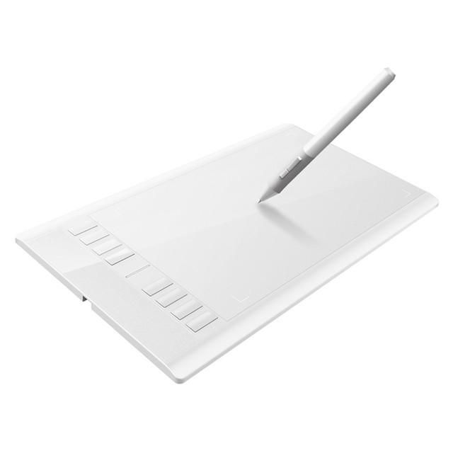 Ugee M708 10*6 Pulgadas Tabletas de Dibujo Tableta Gráfica Digital Ultra Delgada Pad de Firmas Pluma Recargable + Guante