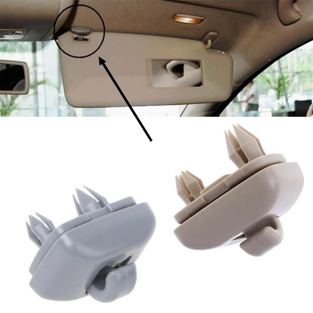 QILEJVS 1Pc Plastic Gray Sun Visor Clip Hook Holder for Audi A1 A3 A4 A5 Q3 Q5 2013-2015 8U0857562 8E0857562