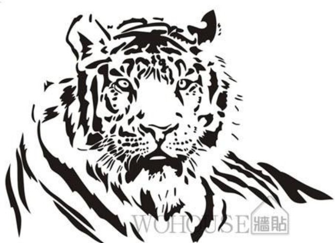 Animal Wall Sticker Tiger Wall Decals Home Decoration Pvc Wall Covering Romoveable Bedroom Living Room Decorative