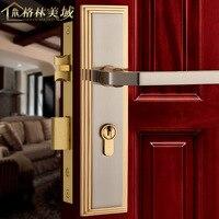 American locks all copper black simple door locks pure copper interior solid wood door locks