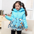 Free shipping Winter new arrival cotton-padded clothes new lovely princess hooded outwear children clothing