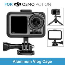 NEW Arrival Aluminum Metal Vlog Cage for DJI Osmo Action Video Protective Vlogging Housing Shell with Cold Shoe&GoPro Adapter