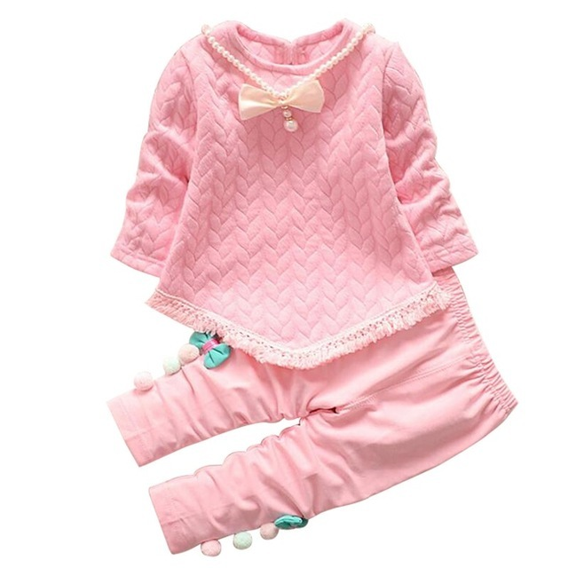 59c095f4b winter Children Clothing Korean style Girls Clothes tassel t shirt+ ...