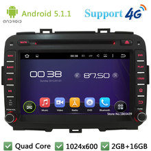 Quad Core 8″ 1024*600 2DIN Android 5.1.1 Car DVD Video Player Radio Screen PC BT FM DAB+ 3G/4G WIFI GPS Map For KIA Carens 2013
