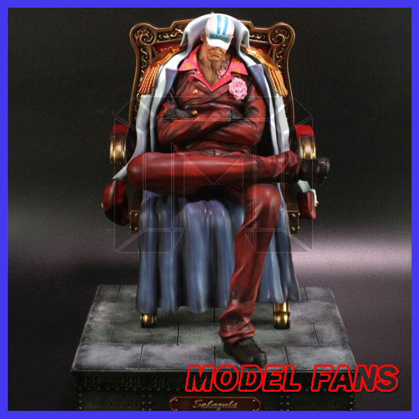 MODEL FANS instock model place One Piece 29cm Sakazuki Sitting posture gk resin statue toy Figure for Collection