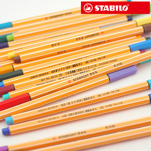 Image 2 - STABILO 25pcs Fiber pen Germany Stabilo 88 fineliner sketch pen 0.4mm processional Marker pen Paperlaria colored gel pen Escolar