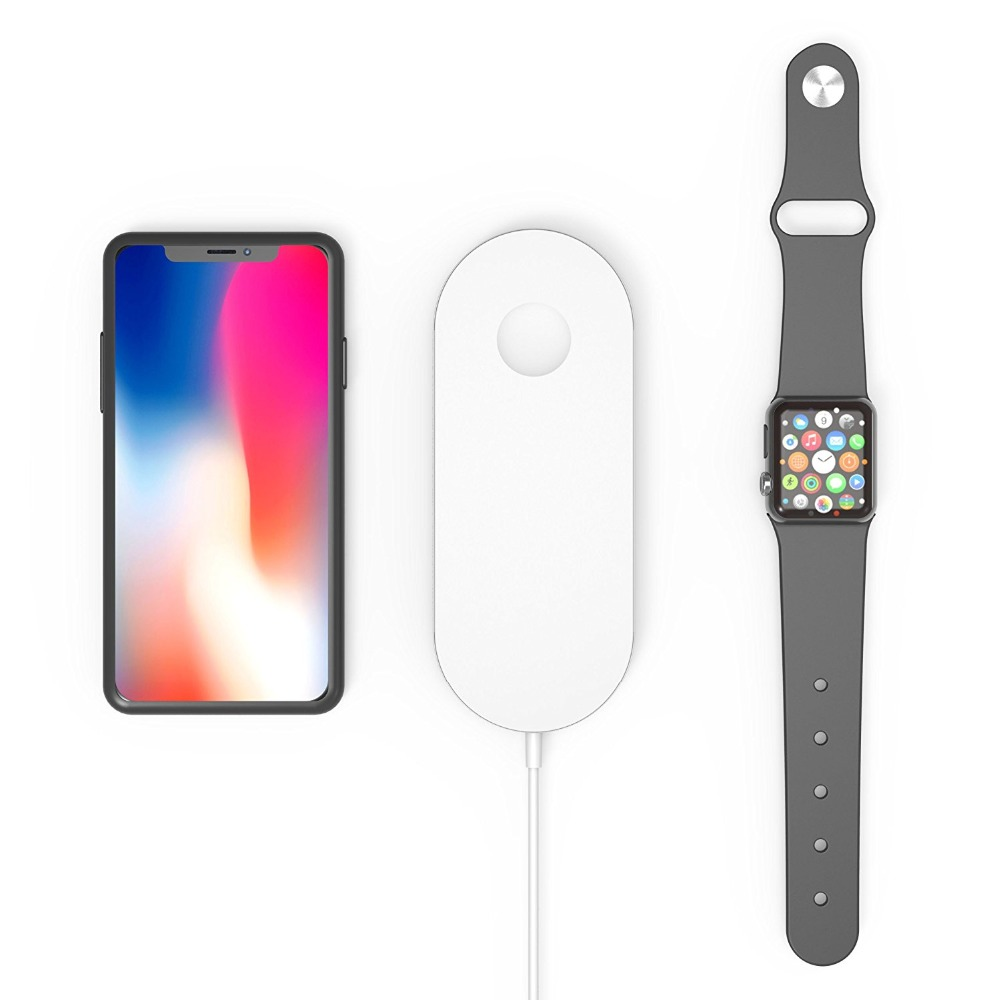 Airpower For iWatch 2 3 QI Wireless Charger For iPhone X 8 8plus Quick Fast Charging Pad For Apple Watch Sumsang S9 S8 S7 S6 13