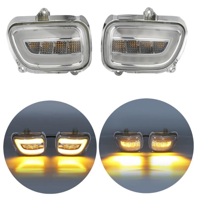 Пара Ясно передняя LED поворотники для Honda f6b 13-17 Goldwing GL1800 2001-2017 2002 2003 2004 2005 2016 2015