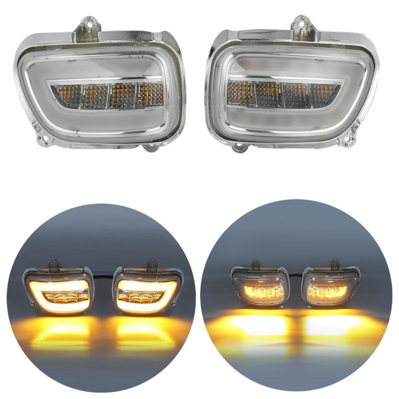 Здесь можно купить  Motorcycle Front LED Turn Signals light For Honda F6B 13-17 Goldwing GL1800 2001-2017 2002 2003 2004 2005 2016 2015 Pair  Автомобили и Мотоциклы
