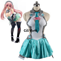 Vocaloid Hatsune Miku Supersonico Racing Suit Tube Tops Tee Dress Uniform Outfit Anime Cosplay Costumes