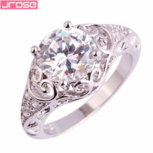2015 Fashion New Gift Trendy Elegant Women Rings 925 Silver Ring Wholesale Jewelry Size 6 7 8 9 10 11 White Topaz