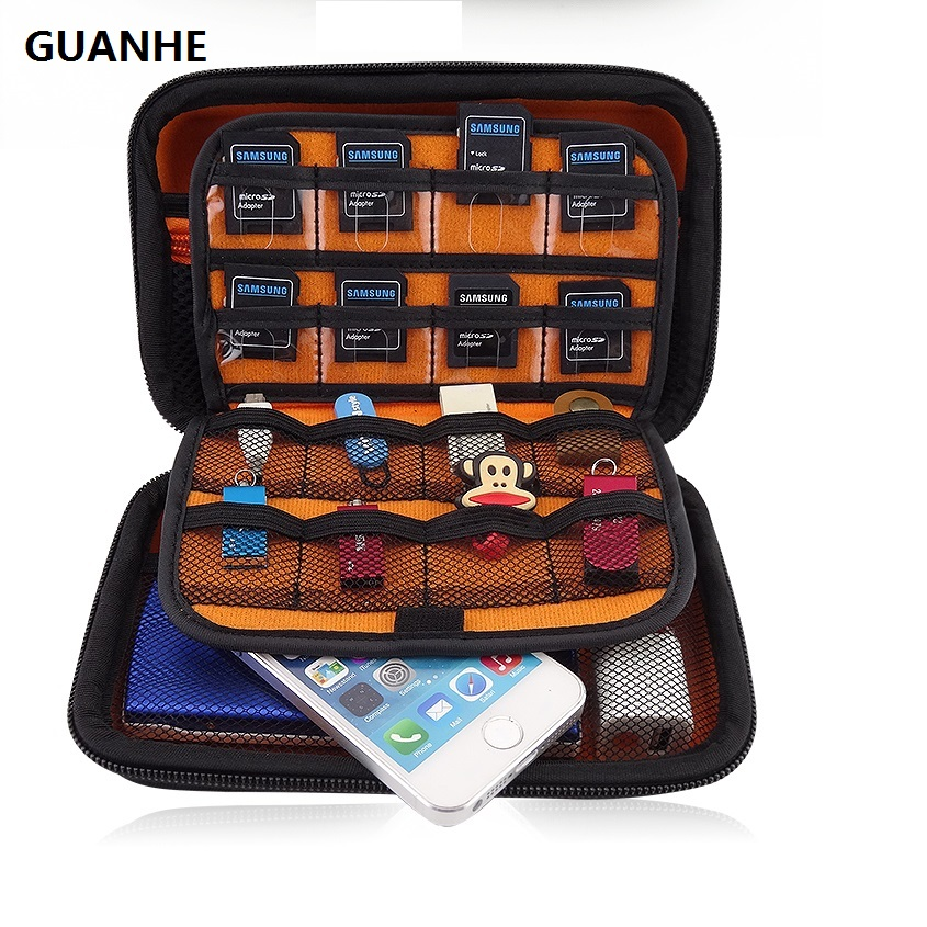GUANHE EVA Case Protective Travel Carrying Case Cover with Carry Strap for hard drive,SSD,Nintendo 3DS,New 3DS XL/New 3DS.LL new high quality aluminium metal skin protective hard case cover full housing case for nintendo for new 3ds xl ll console