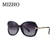 MIZHO 2017 Artificial Crystal Ornament Fashion Gradient Ladies Sunglasses Women Polaroid Vintage Anti Glare korea Glasses Luxury