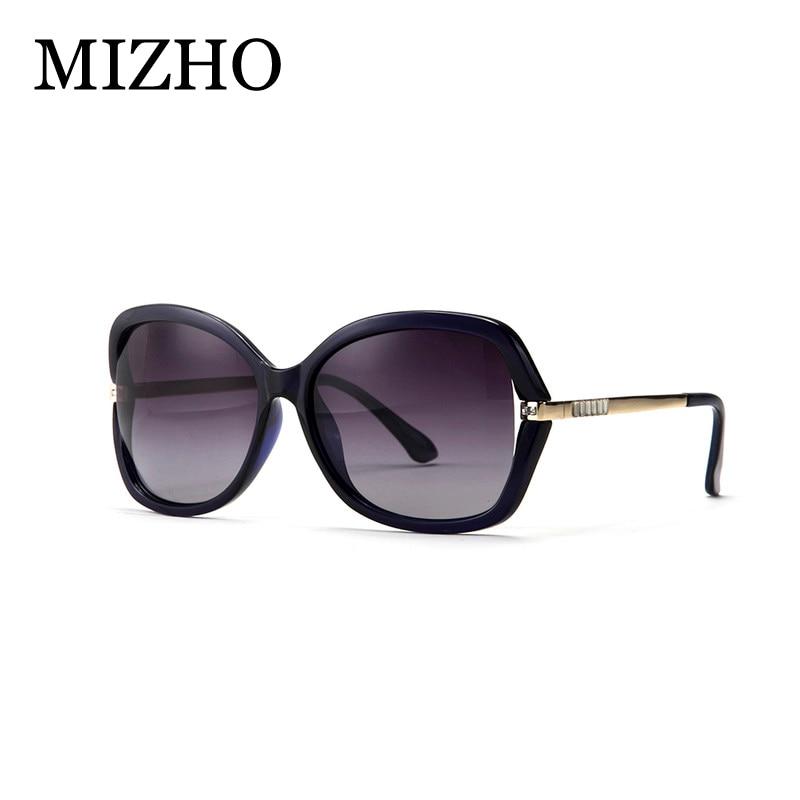 MIZHO 2019 Umetni kristalni okraski Moda Gradient Ženska sončna očala Ženska Polaroid Vintage Anti Glare korea Očala Luksuzna