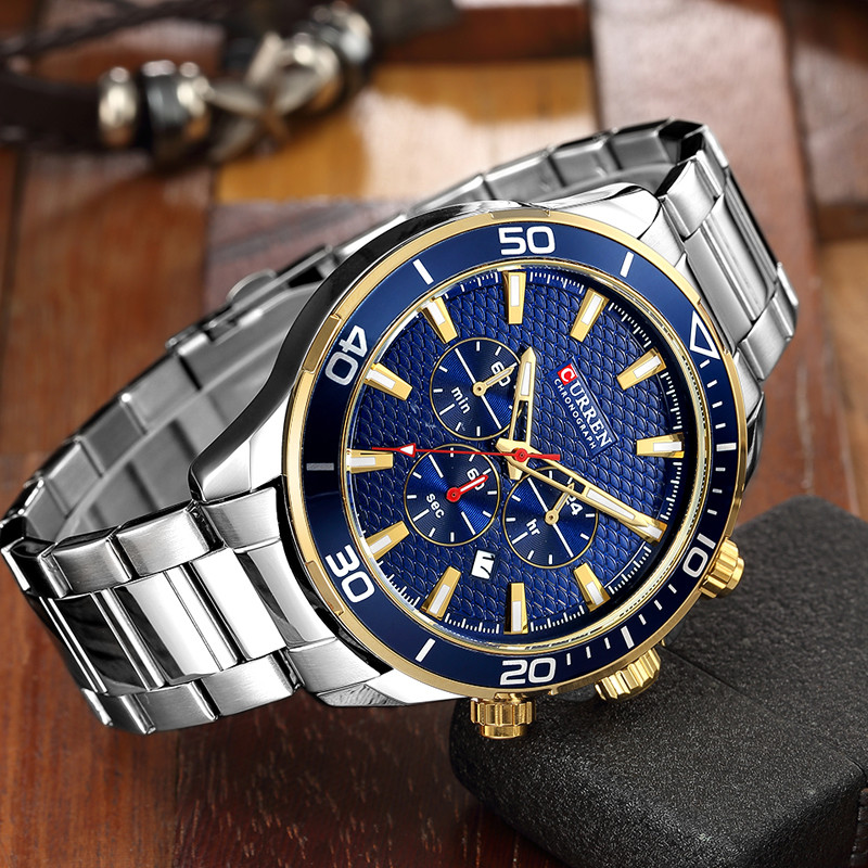 Relogio Masculino Curren Mens Watches Top Brand Luxury Stainless Steel Waterproof Business Men Quartz Watch Men Sport Wristwatch mens watches top brand luxury sport quartz watch men business stainless steel silicone waterproof wristwatch