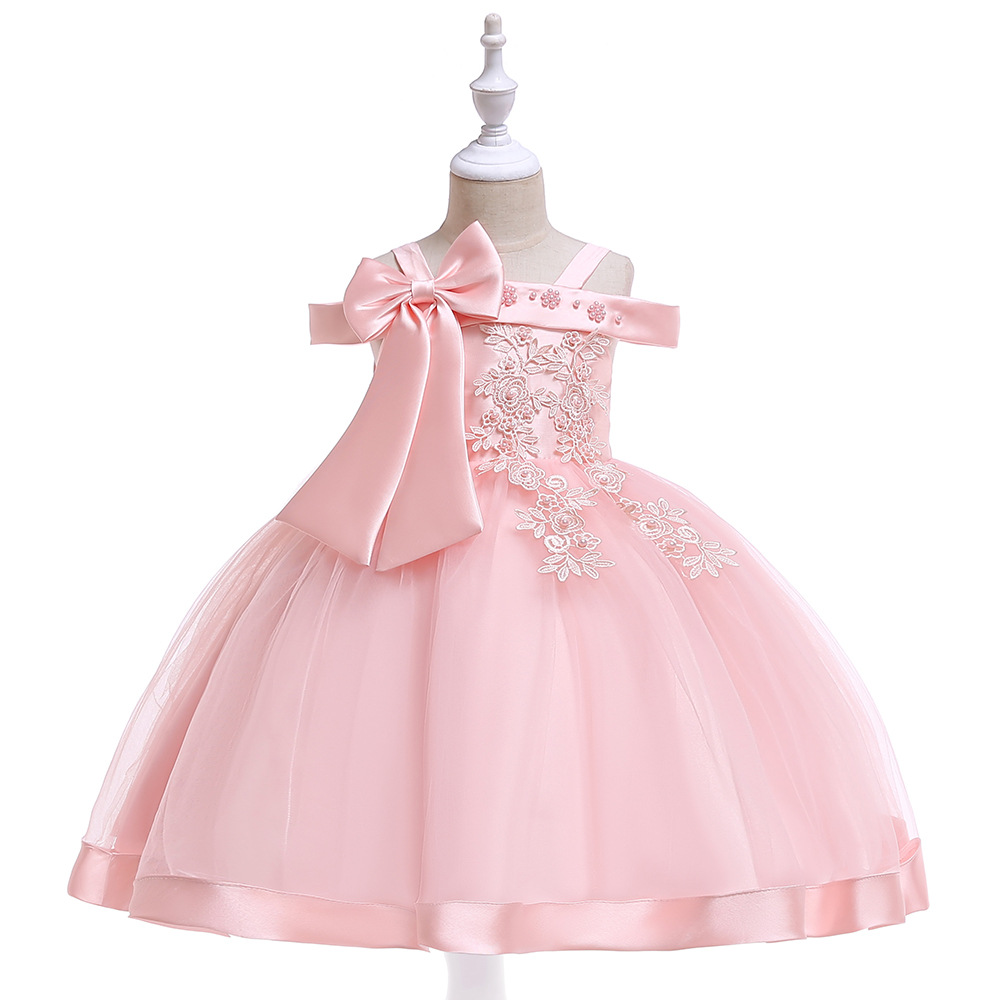 Beauty A-Line   Flower     Girls     Dresses   For Weddings Children Party Birthday   Dresses     Girls   Pageant Gowns 2019
