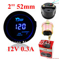 "2 ""52mm Blue Digital Indicador de Presión de Aceite con sensor LED 0-120 PSI 12 V"