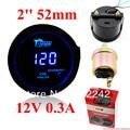 "2 ""52mm Blue Digital Indicador de Presión de Aceite con sensor LED 0-120 PSI 12 V"