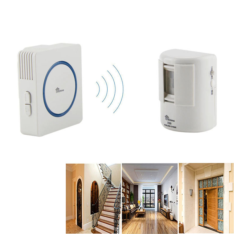 us plug 200m wireless pir motion detector visitor guest welcome entry doorbell chime 35 tunes door - Doorbell Chime