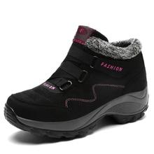 Женщина треккинг Треккинговые ботинки черный, фиолетовый Снегоступы с Мех Животных Открытый Сапоги и ботинки для девочек женские теплые Для женщин Mountain пробный Обувь дешевые