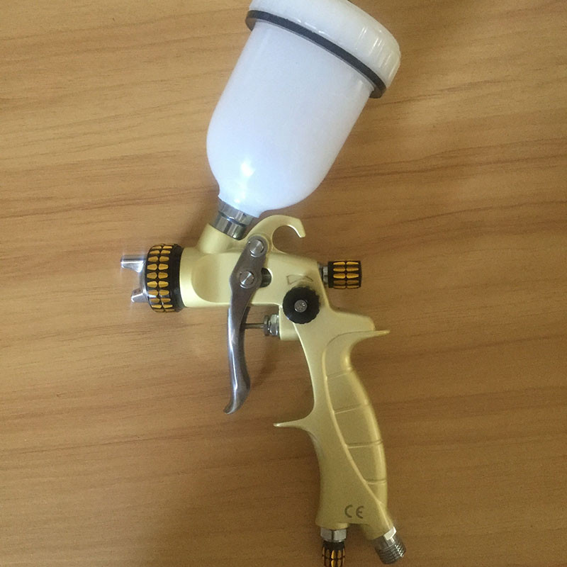 SAT1216C professional high quality mini spray gun for car painting hvlp nozzle 0.8mm machine tools