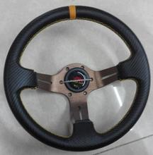 Free shipping 2014 new carbon fiber car modification steering wheel / 12 inch carbon fiber PVC Racing Wheel