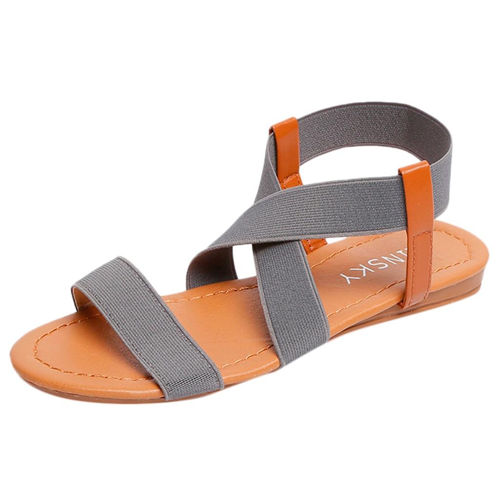 HTB10VVnavjsK1Rjy1Xaq6zispXal 2019 Women's Sandals Spring Summer Ladies Shoes Low Heel Anti Skidding Beach Shoes Peep-toe Fashion Casual Walking sandalias