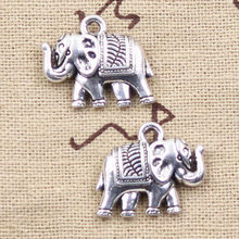 3pcs Charms Thailand Elephant 16x20mm Antique Making Pendant fit,Vintage Tibetan Silver color,DIY Handmade Jewelry(China)