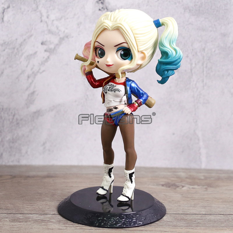 DC Comics Suicide Squad Harley Quinn PVC figura modelo de juguete Q Posket muñeca colección regalo