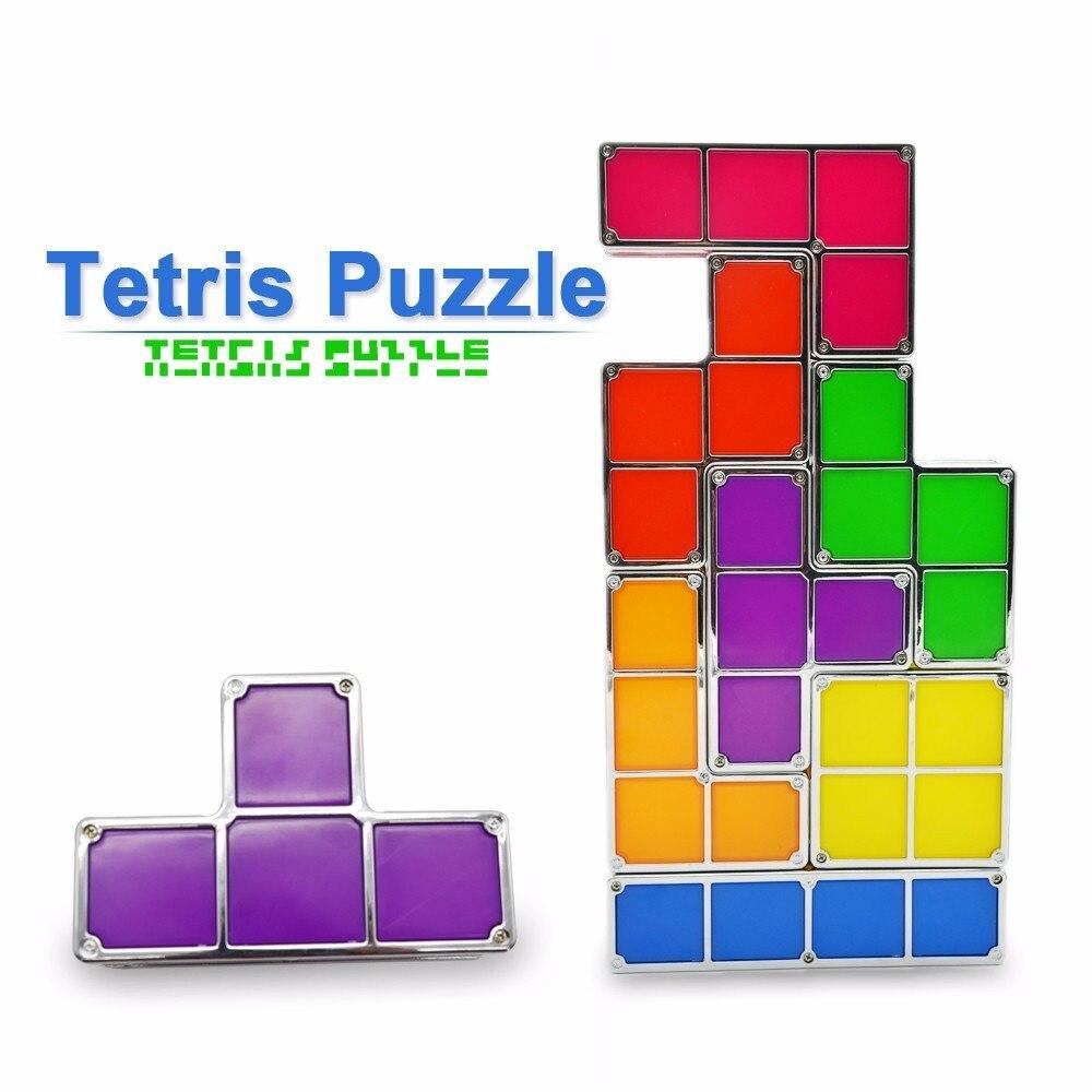 diy tetris quebra cabeca luz empilhavel led 02
