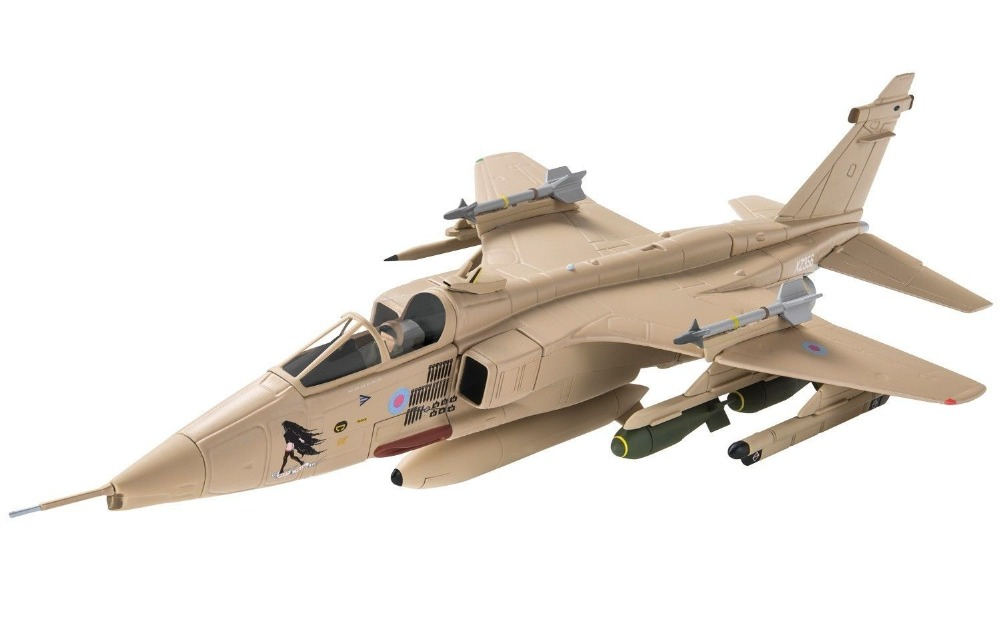 Corg 1/72 British Jaguar attack aircraft model GR.Mk1 the Gulf War AA35414 Favorites Model av72 1 72 the british ah 1 gulf war av7224005 gazelle helicopter alloy collection model holiday gift