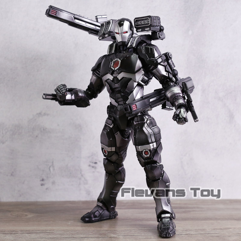 Play Arts Kai Marvel Avengers Infinity War Super Hero Iron Man War Machine PVC Action Figure Collectible Model Toy saintgi iron man avengers generation action figures hot toys super hero collection model toy gift pa change play arts marvel